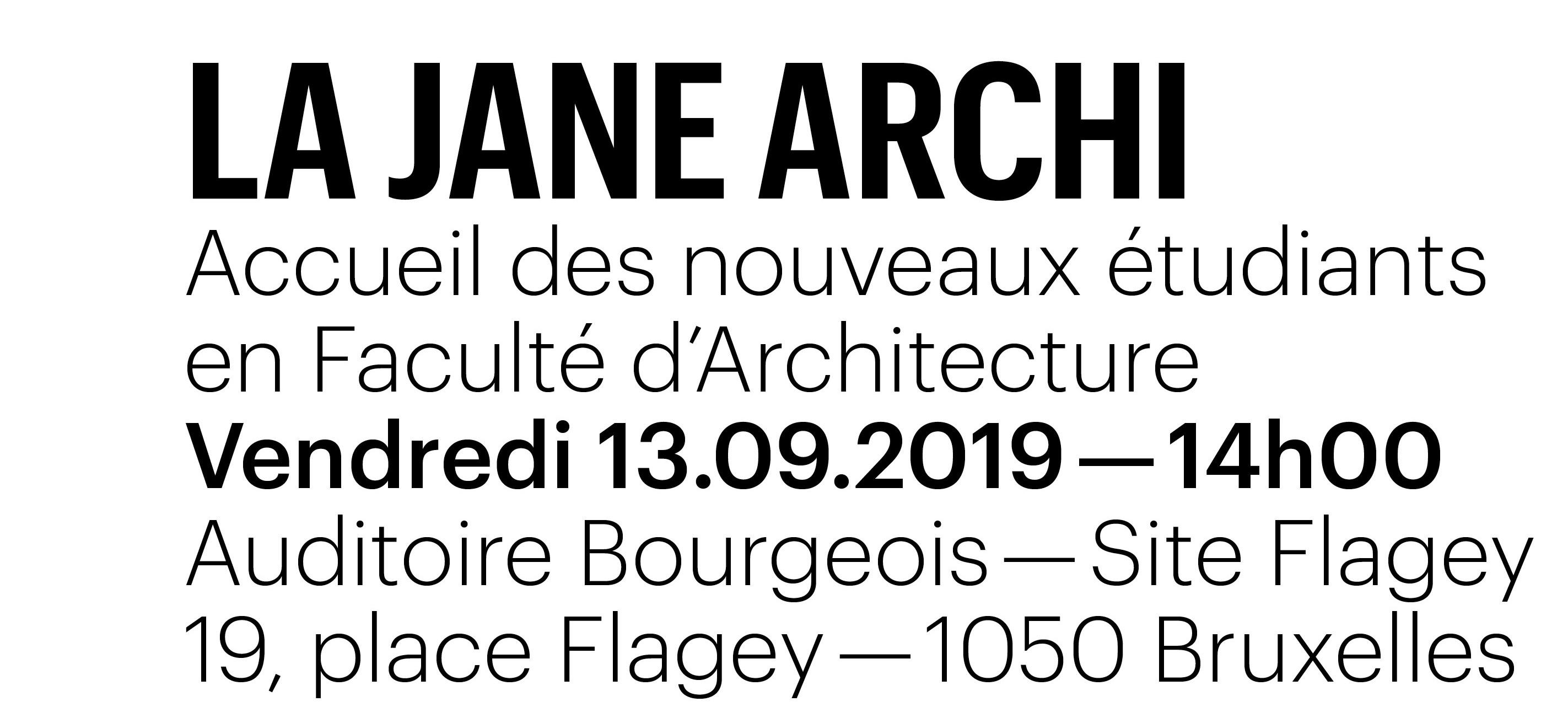 La Jane Archi 2019